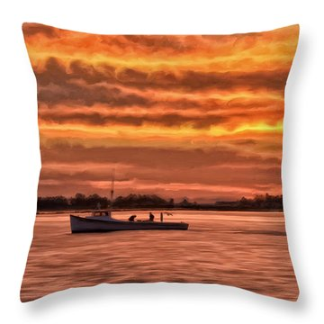 Chesapeake Watermen Throw Pillow