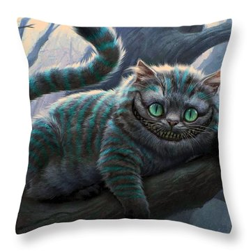 Cheshire Cat Throw Pillow by Movie Poster Prints
