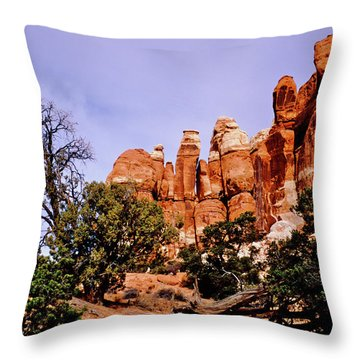 Chesler Park Pinnacles Throw Pillow by Ed  Riche
