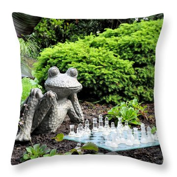 Chess Anyone? Throw Pillow