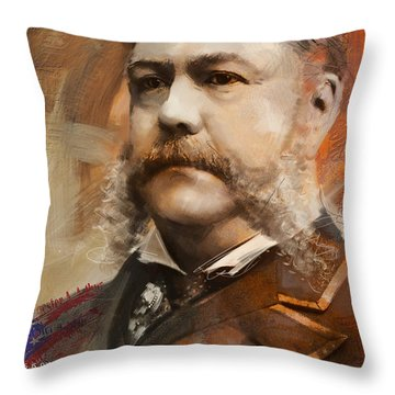 Chester A. Arthur Throw Pillow by Corporate Art Task Force