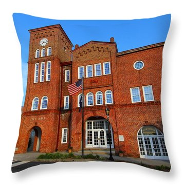 Chester City Hall Throw Pillow