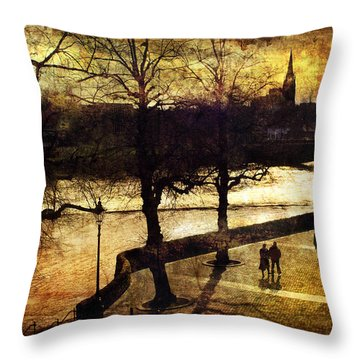 Chester Riverwalk Throw Pillow by Mal Bray