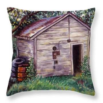 Chester's Treasures Throw Pillow by Linda Mears