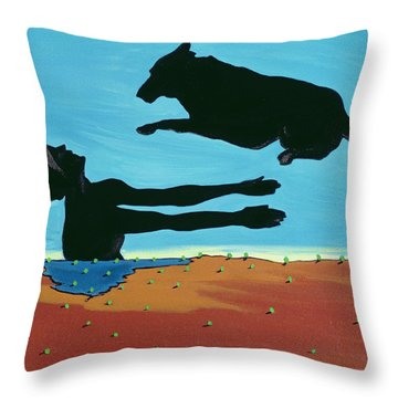 Chestertowns Shore, 1999 Throw Pillow by Marjorie Weiss