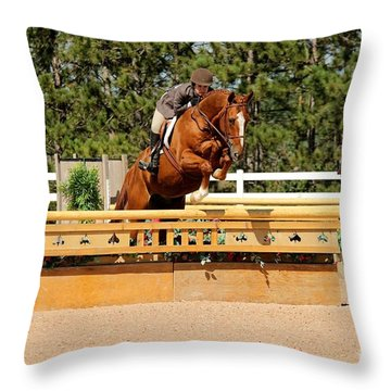 Chestnut Hunter Throw Pillow
