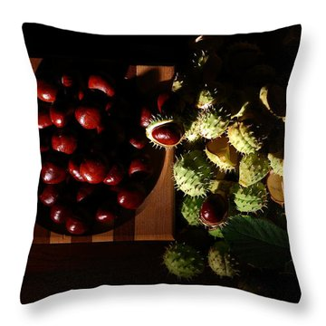 Throw Pillow featuring the photograph Chestnuts by David Andersen