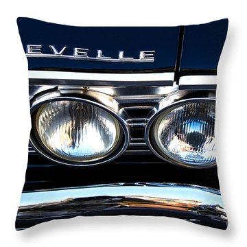 Chevelle Headlight Throw Pillow by Jerry Fornarotto