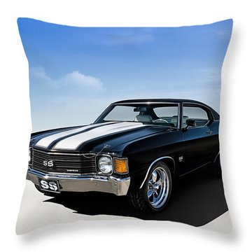 Chevy Ss Throw Pillows