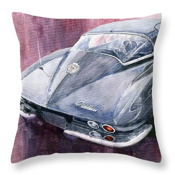 Chevrolet Corvette Sting Ray 1965 Throw Pillow