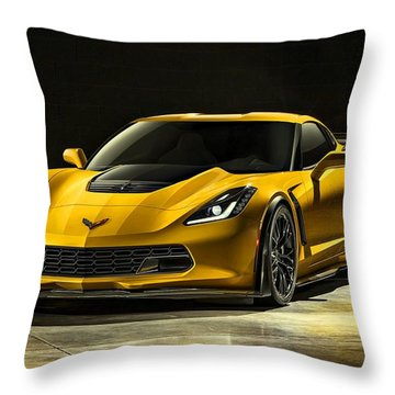 Chevrolet Corvette Z06  Throw Pillow by Movie Poster Prints