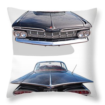 Chevrolet Impala 1959 Front And Rear Throw Pillow