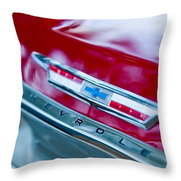 Chevrolet Impala Emblem 3 Throw Pillow by Jill Reger