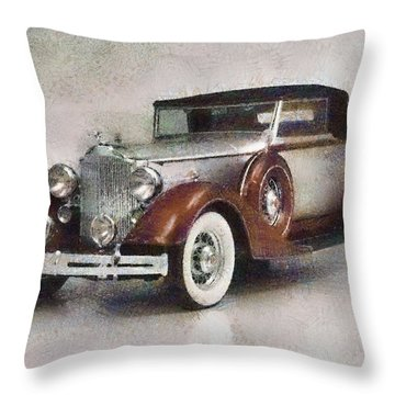 Chevrolet Master Sport Coupe Throw Pillow by Georgi Dimitrov