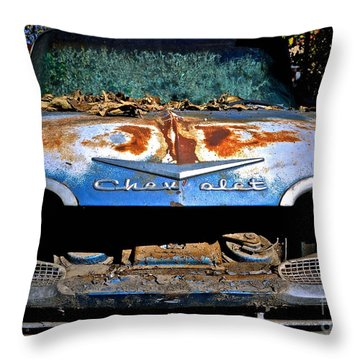 Chevrolet Picking Throw Pillow by Gwyn Newcombe