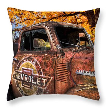 Chevrolet Usa Throw Pillow by Debra and Dave Vanderlaan