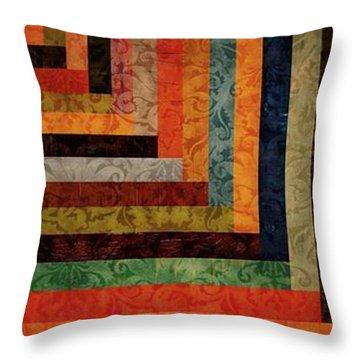 Chevron Brocade Triptych Throw Pillow by Michelle Calkins