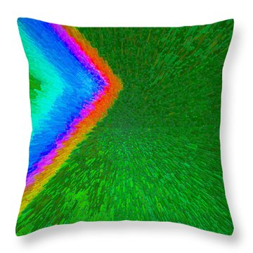 Throw Pillow featuring the painting Chevron Rainbow C2014 by Paul Ashby