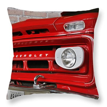Chevy Beaumont Fire Museum Tx Throw Pillow by Christine Till