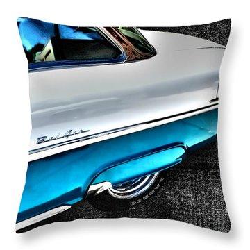 Chevy Bel Air Art 2 Tone Side View Art 1 Throw Pillow