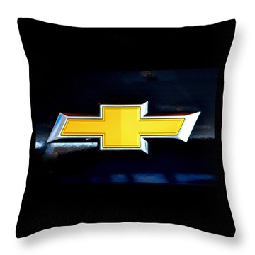 Chevy Bowtie Camaro Black Yellow Iphone Case Mancave Throw Pillow