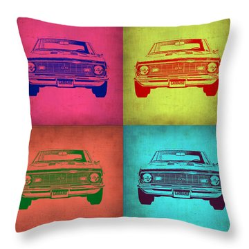 Chevy Camaro Pop Art 1 Throw Pillow