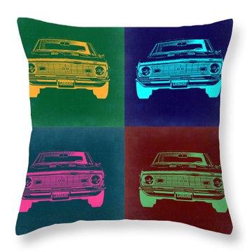 Chevy Camaro Pop Art 2 Throw Pillow