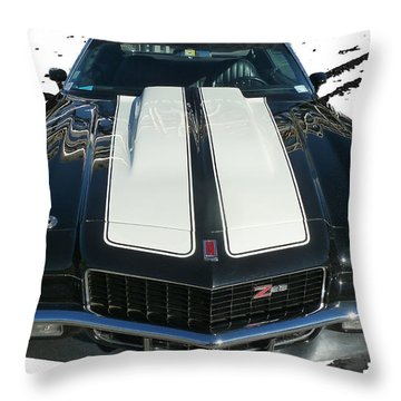 Chevy Camaro Z28 Throw Pillow by Steve Taylor