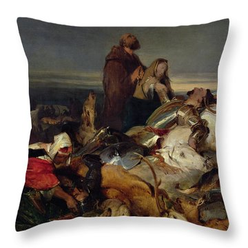 Chevy Chase Throw Pillow by Sir Edwin Landseer