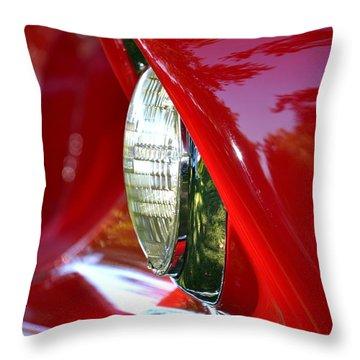 Chevy Headlight Throw Pillow