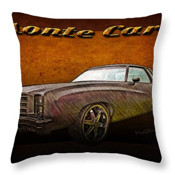 Chevy Monte Carlo Poster Throw Pillow
