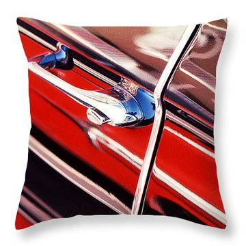 Throw Pillow featuring the photograph Chevy Or Caddie? by Ira Shander