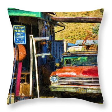 Chevy Parking Only Throw Pillow