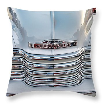 Throw Pillow featuring the photograph Chevy Pickup Classic by Dyle   Warren