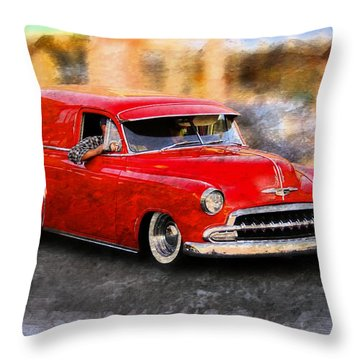 Classic Cars Throw Pillow featuring the photograph Chevy Street Rod by Aaron Berg