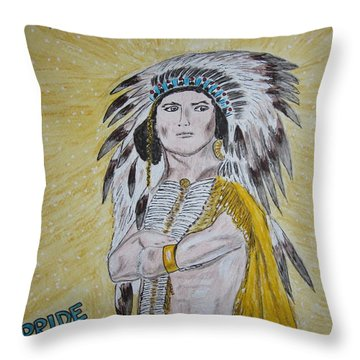 Chew Mail Pouch Throw Pillow by Kathy Marrs Chandler