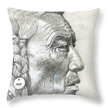 Cheyenne Medicine Man Throw Pillow