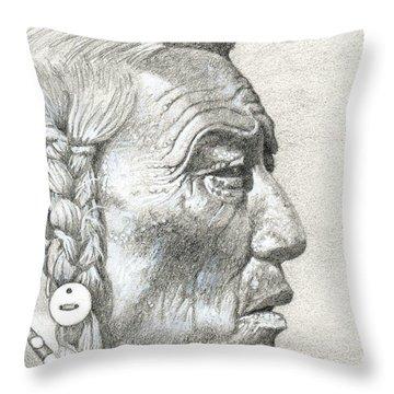 Bear Bull, Blackfoot Throw Pillow