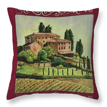 Chianti And Friends Collage 1 Throw Pillow by Debbie DeWitt