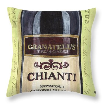 Chianti And Friends Panel 1 Throw Pillow by Debbie DeWitt