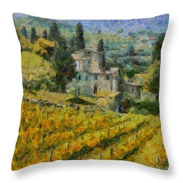 Chianti Vineyard Throw Pillow