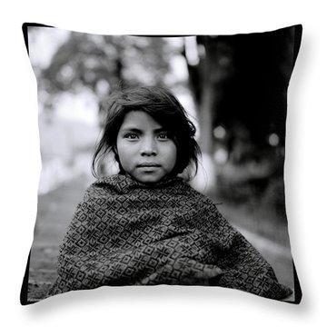 Chiapas Girl Throw Pillow