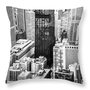 Chicago Aerial Vertical Panoramic Picture Throw Pillow by Paul Velgos