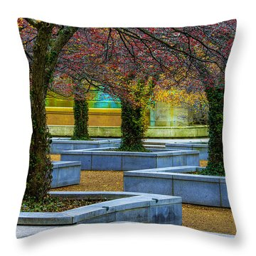Chicago Art Institute South Garden Throw Pillow