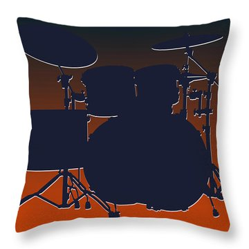 Chicago Bears Drum Set Throw Pillow by Joe Hamilton