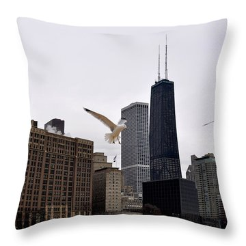 Chicago Birds 2 Throw Pillow