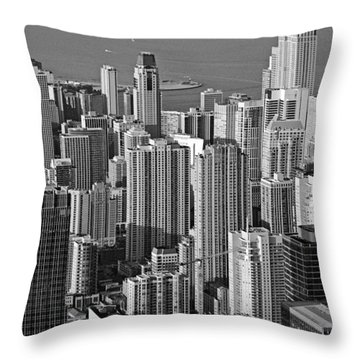 Chicago - Birds-eye-view Throw Pillow by Christine Till