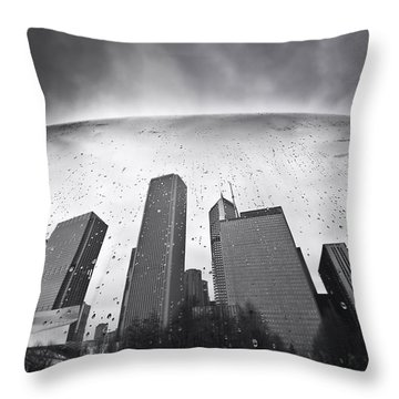 Chicago Black And White Photography Throw Pillow
