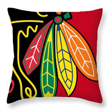 Chicago Blackhawks 2 Throw Pillow