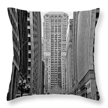 Chicago Board Of Trade Throw Pillow by Christine Till